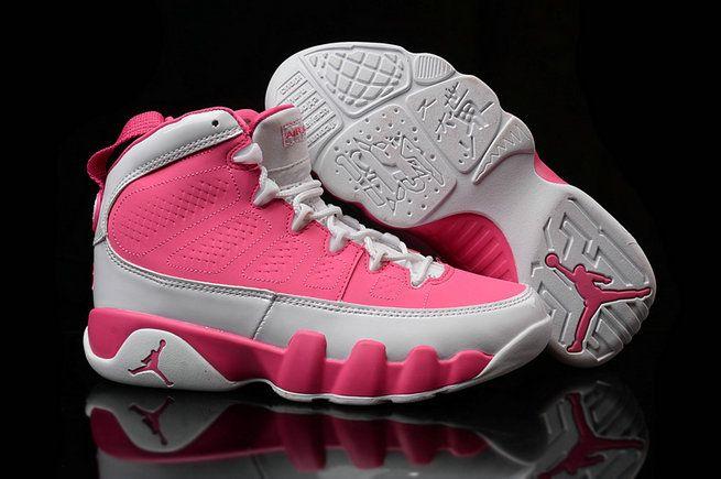 Authentic Jordan Retro 9 Pink White Shoe