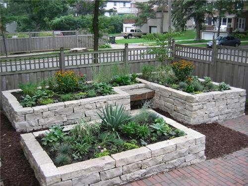 rock raised garden bed ideas I planned on making a raised bed out of cedarbut this
