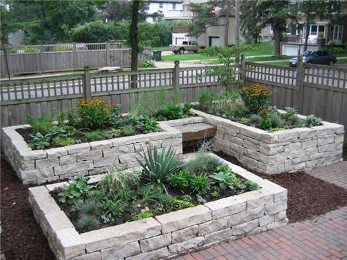 Stone Raised Garden Beds