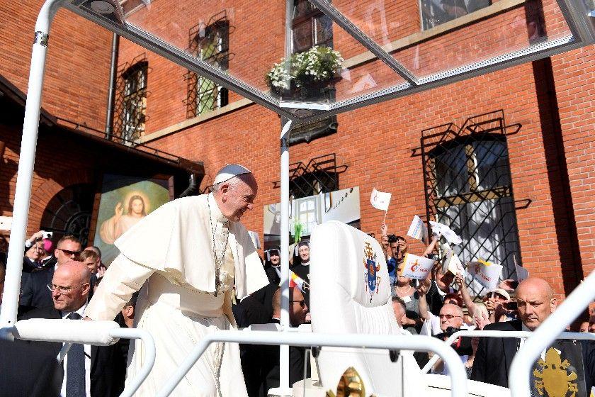 Franciszek w Sanktuarium Bożego Miłosierdzia w Łagiewnikach