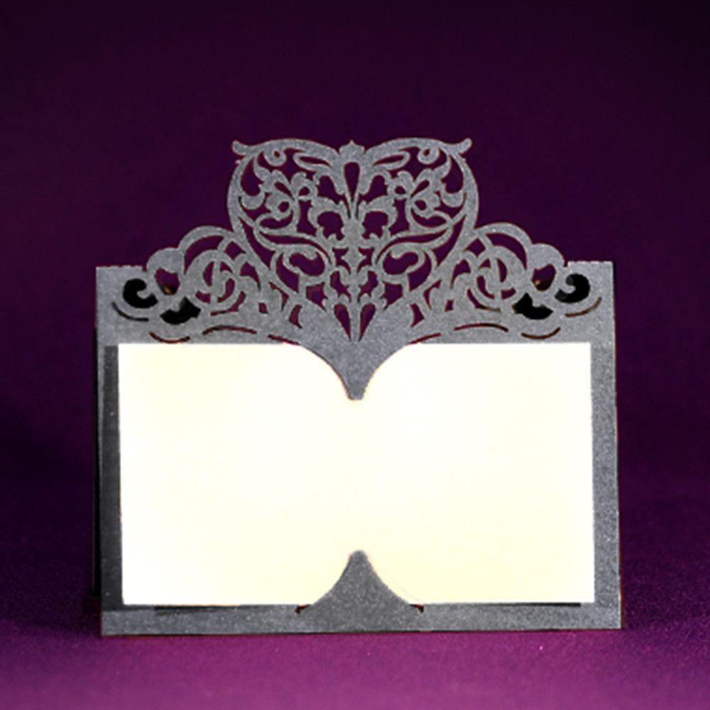 Laser Cut Place Card - Italian Ornate - Blank