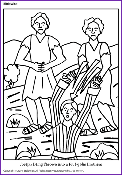Coloring Joseph Being Thrown Into The Pit Kids Korner Vacation Bible School Sunday School Teacher Bible Coloring Pages