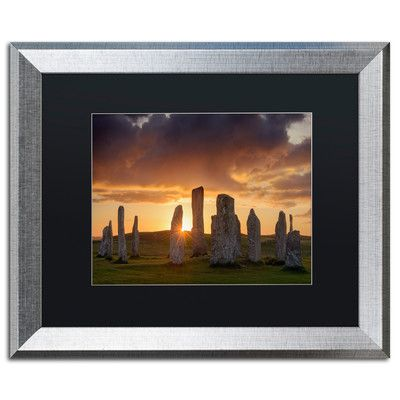 "Trademark Art 'Light on Callanish' by Michael Blanchette Framed Photographic Print Matte Color: Black, Size: 16"" H x 20"" W x 0.5"" D"