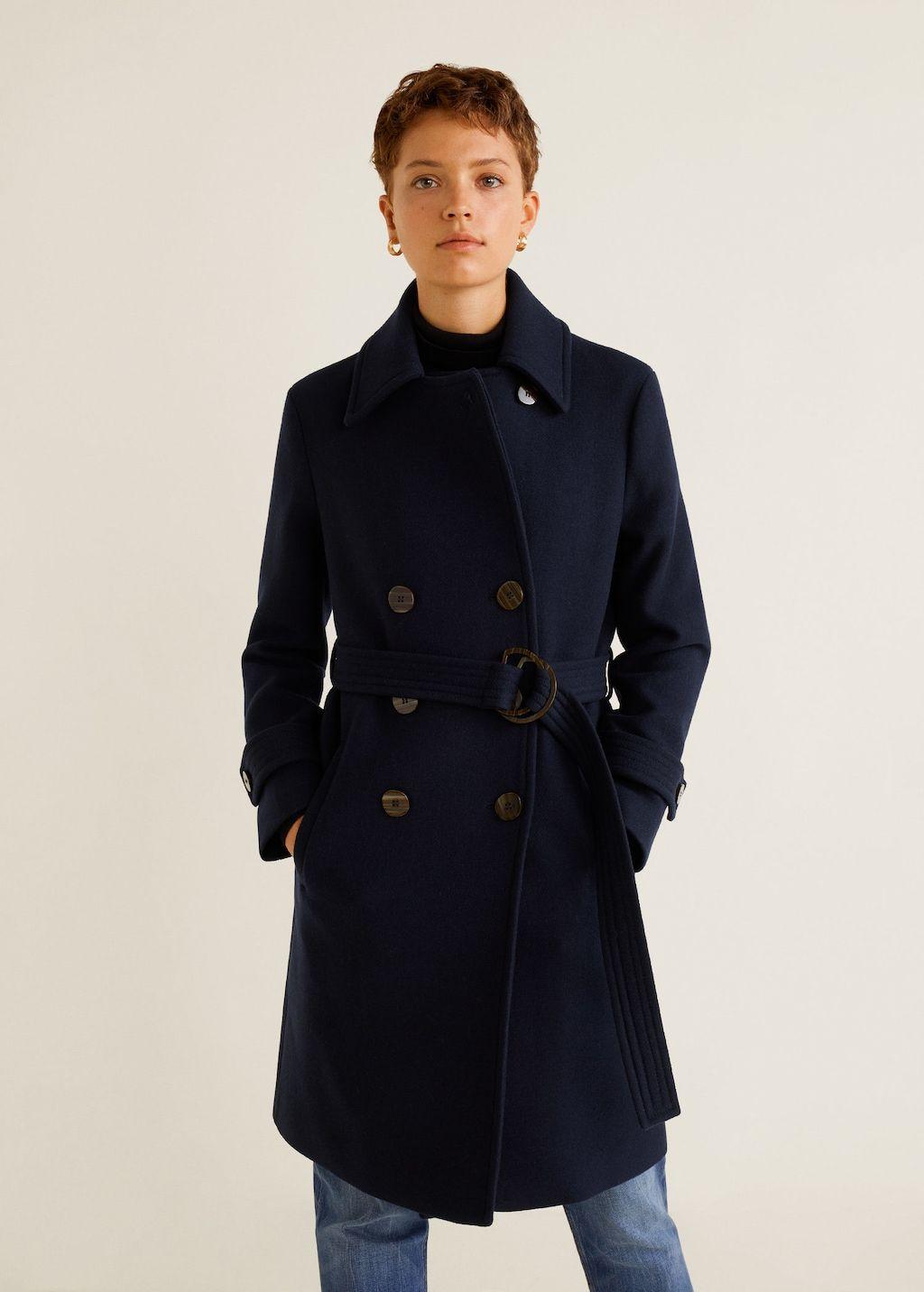 Warme Wollen Winterjas Dames.Double Breasted Wollen Jas Dames 2018winter Wool Coat Coat En