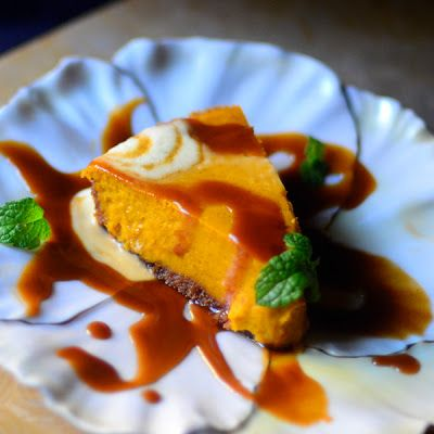 lostpastremembered: Pichet Ong's Kabocha Squash Pie with Ginger Butterscotch Sauce