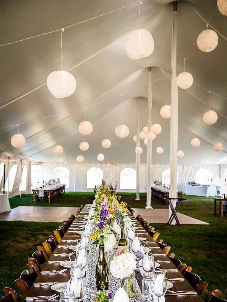 Wedding tent decoration images  The Prettiest Outdoor Wedding Tents Weuve Ever Seen  Tents Wedding