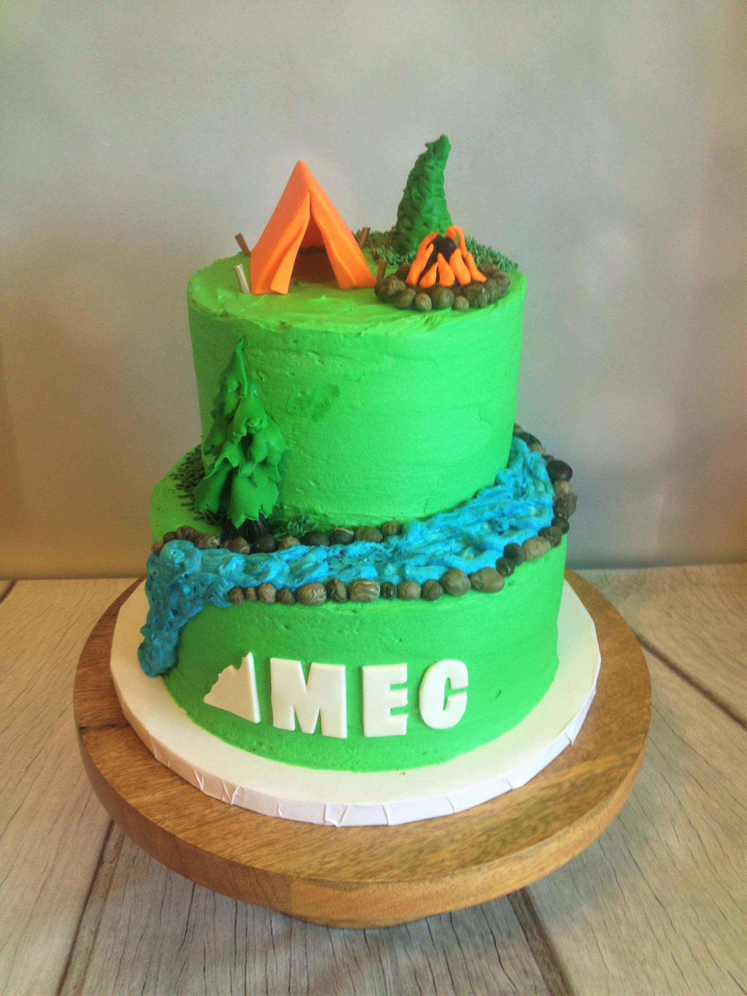 This Cake Was Made For The Grand Opening Of Mountain Equipment Coop