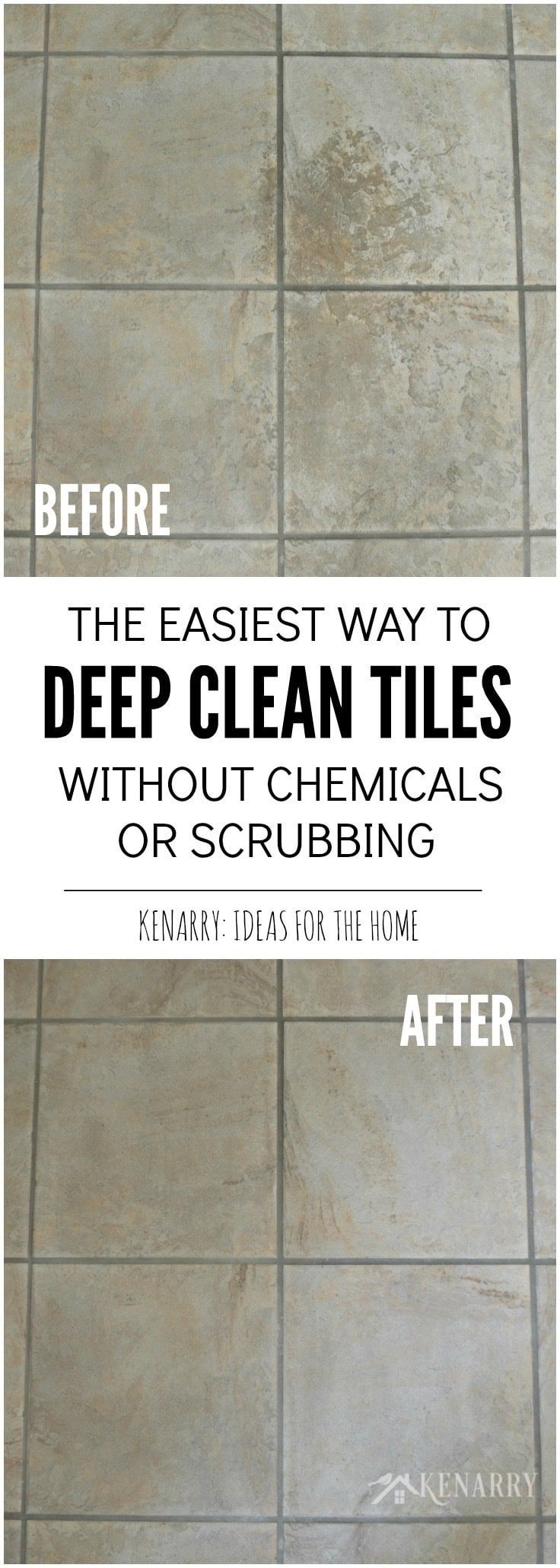 Clean tile floors easily without chemicals or scrubbing tile i love this easy idea for how to clean tile floors quickly and easily who knew you could get ceramic tiles deeply clean without chemicals or scrubbing on dailygadgetfo Image collections