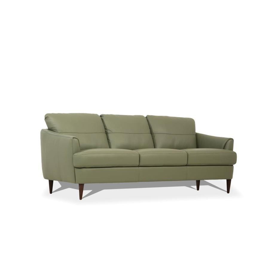 Acme Furniture Helena Modern Moss Green Leather Sofa 54570 In 2020