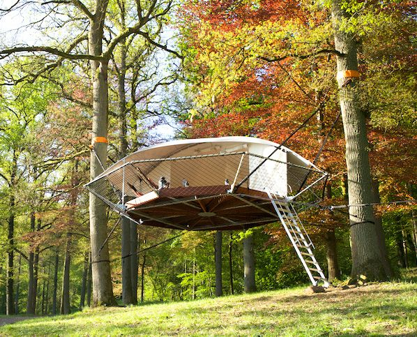 Suspended Dom 39 Up Tree Tents Look Like Flying Saucers In