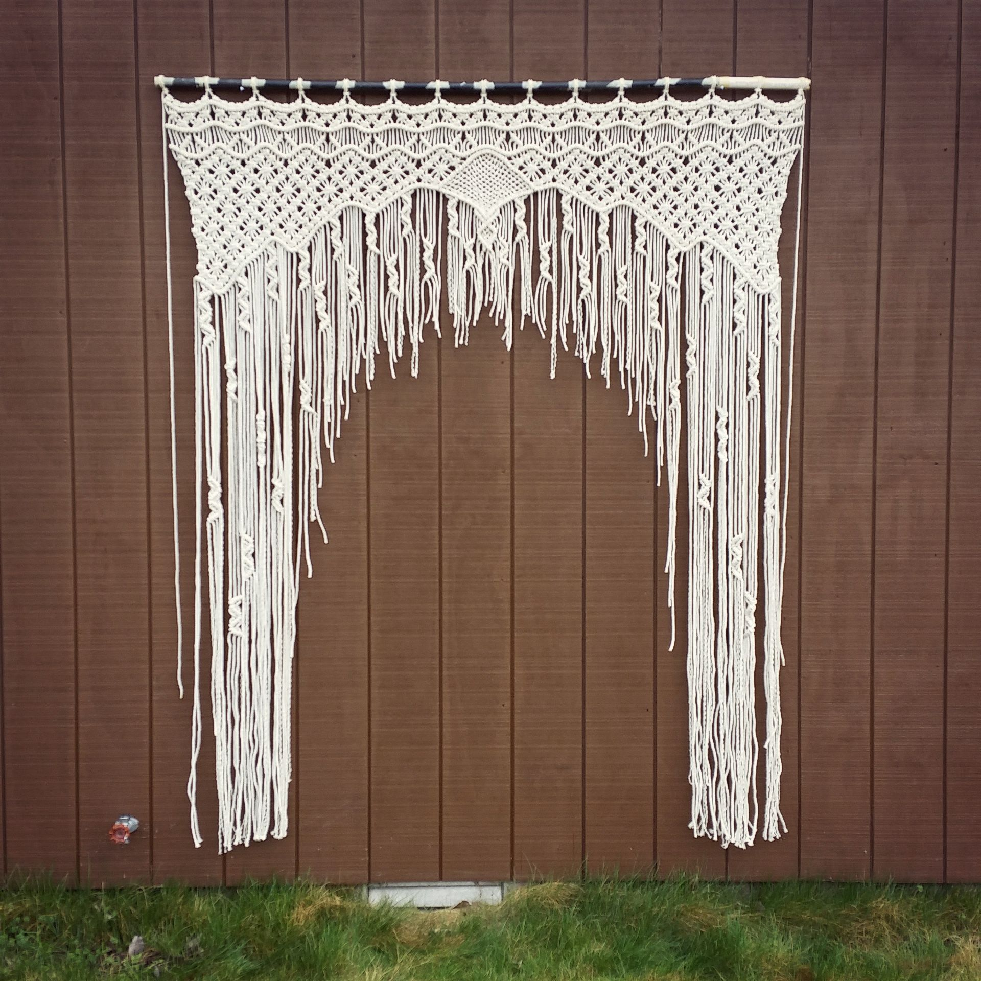 Large Macrame Wedding Arch Macrame Curtain Tapestry