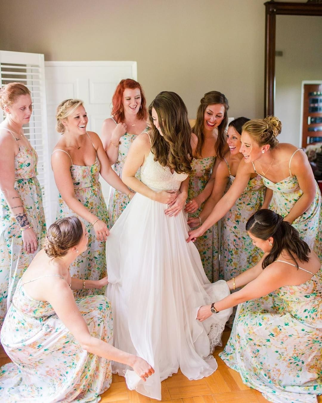 Print Bridesmaids Dresses Bridesmaid Fl For Beach Wedding