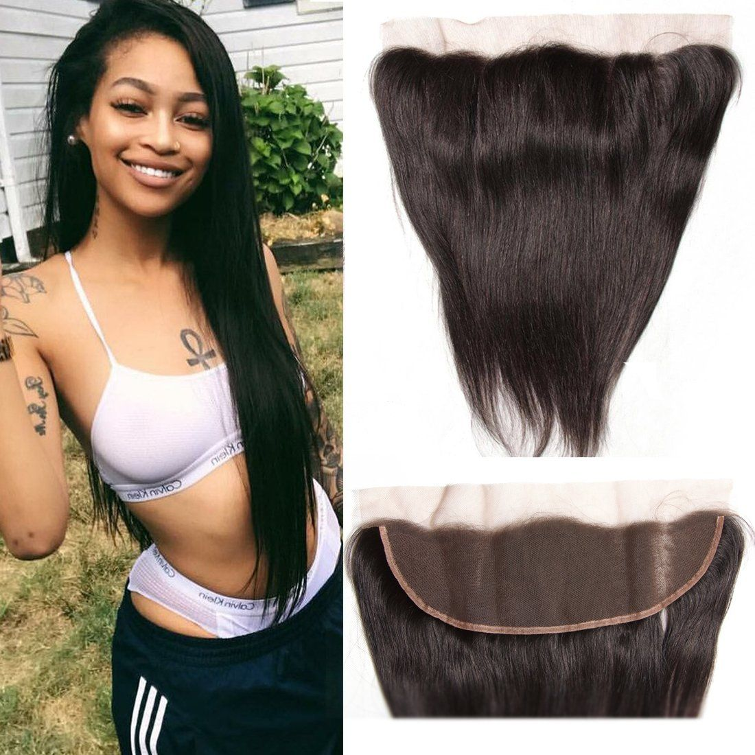 Ali Julia Hair Straight Lace Frontal Peruvian Virgin Hair 100