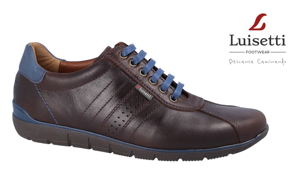 07de9096c77 ZAPATO MONACO 24303GS Zapato de estilo deportivo para hombre confeccionado  en cuero natural con acabado graso