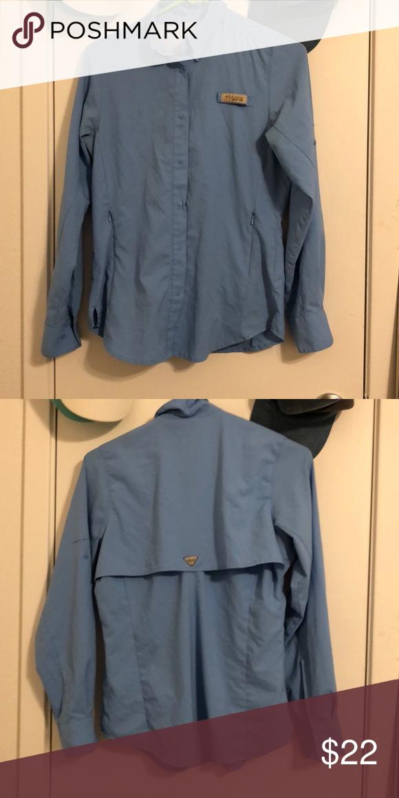 ff32c8c7bd3 Columbia long sleeve fishing shirt blue size XS Womens' PFG long sleeve Columbia  Tops