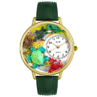 WHIMSICAL WATCHES - Turtles Watch in Gold (Unisex) - FREE SHIPPING $45.00
