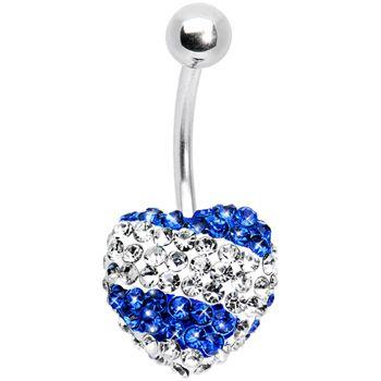 Stellar Splash Indigo Heart Sparkler Belly Ring