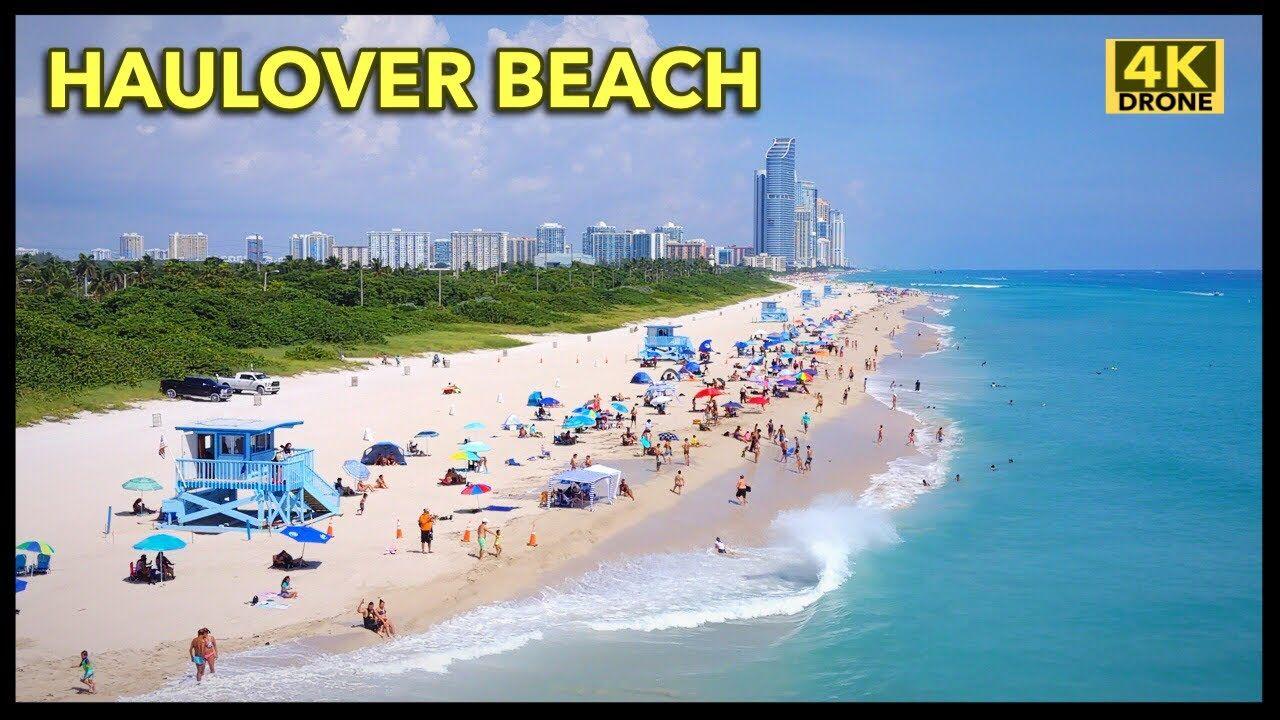 Haulover Beach Miami By Drone 4k Beach Bal Harbour Beach Florida Beaches