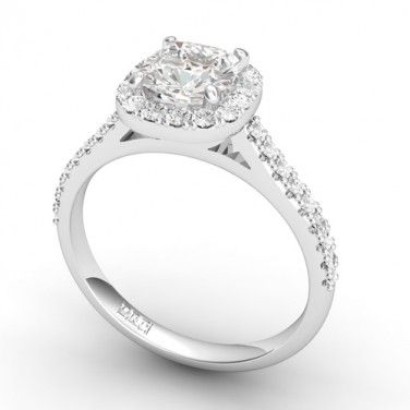 Cateline Round Diamond Engagement Ring Buy Diamond Shoulder