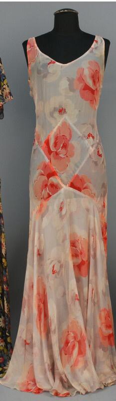 Late 1920s Bias Cut Silk Gown.