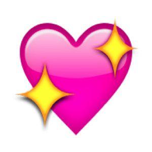 Sparkling heart pink yellow emoji stickers heart emoji pink heart emoji - Smiley bisous iphone ...