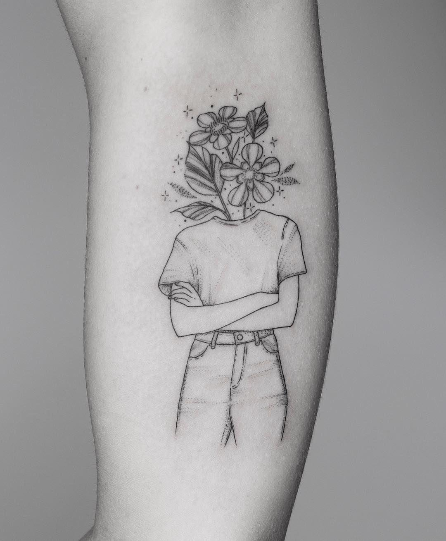 Fine Line Tattoo By Jessica Joy Artwoonz Tattoo Artwoonz Fine Line Tattoos Line Tattoos Line Drawing Tattoos