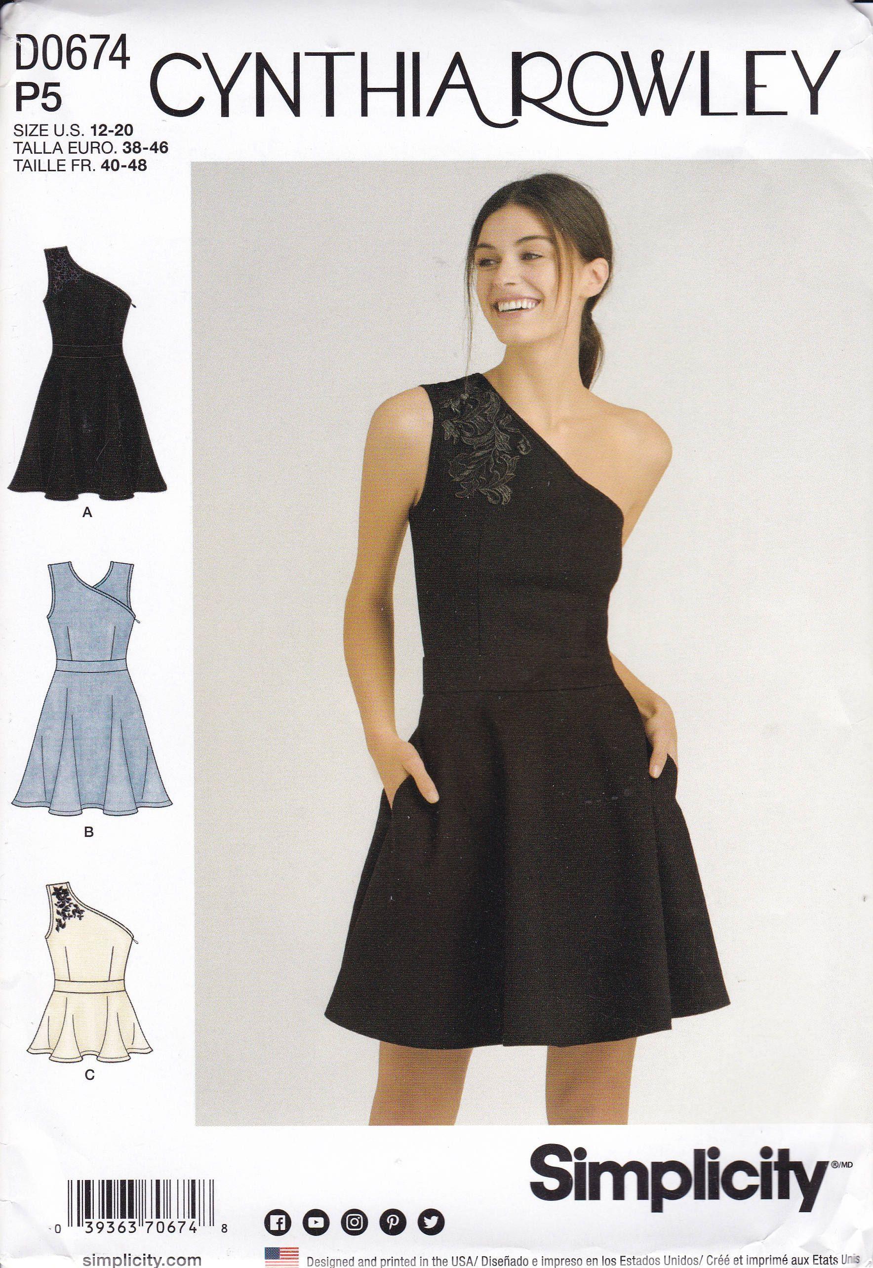 FREE US SHIP Simplicity 0674 8380 Sewing Pattern Top Peplum Dress ...