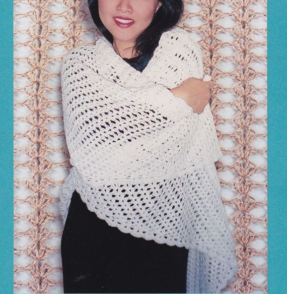 Easy Shawl Crochet Pattern - Crocheted Triangle Lace Shawl | Lace ...