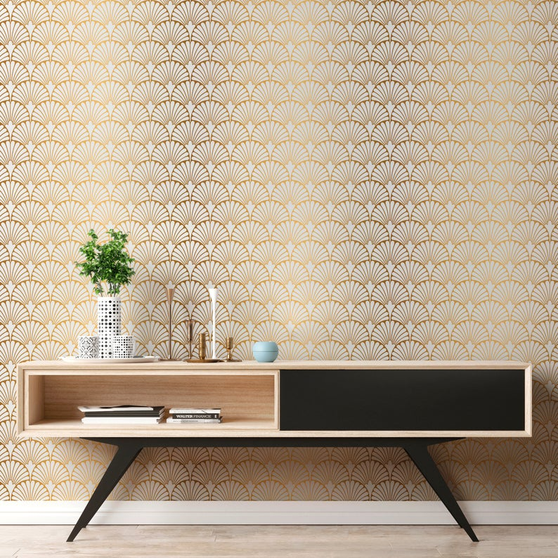 Removable Wallpaper Peel And Stick Wallpaper Wall Paper Wall Etsy Removable Wallpaper Gold Removable Wallpaper Gold Wallpaper