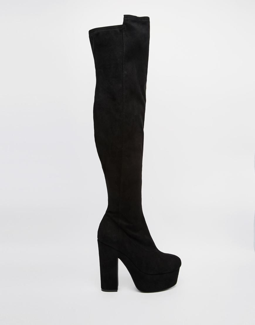 ASOS | ASOS KNIGHTSBRIDGE Wide Fit Over The Knee Boots at ASOS