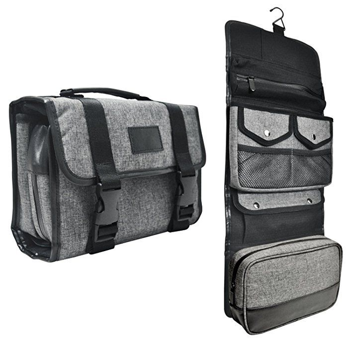 8d4c4614e3a Tailored Hanging Toiletry Bag (Gray)  40   Bags   Luggage   Pinterest