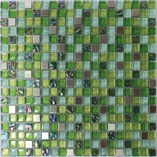 glas edelstahl mosaik fliesen gr n mix baumarkt bad pinterest fliesen. Black Bedroom Furniture Sets. Home Design Ideas
