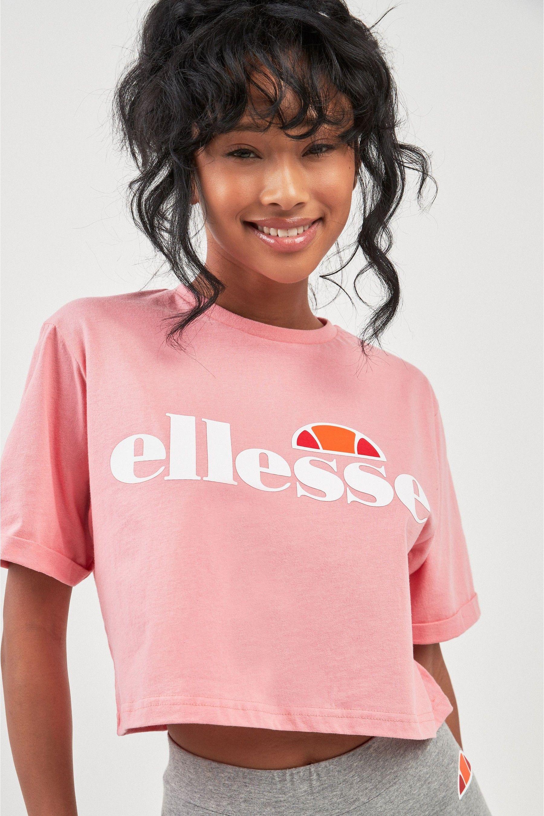 ellesse Frauen Crop T-Shirt Alberta pink