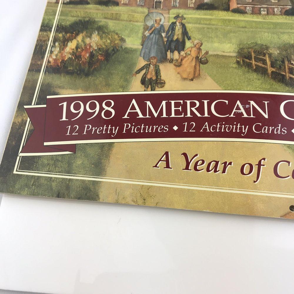 1998 American Girls Pleasant Company Calendar Activities No Marks