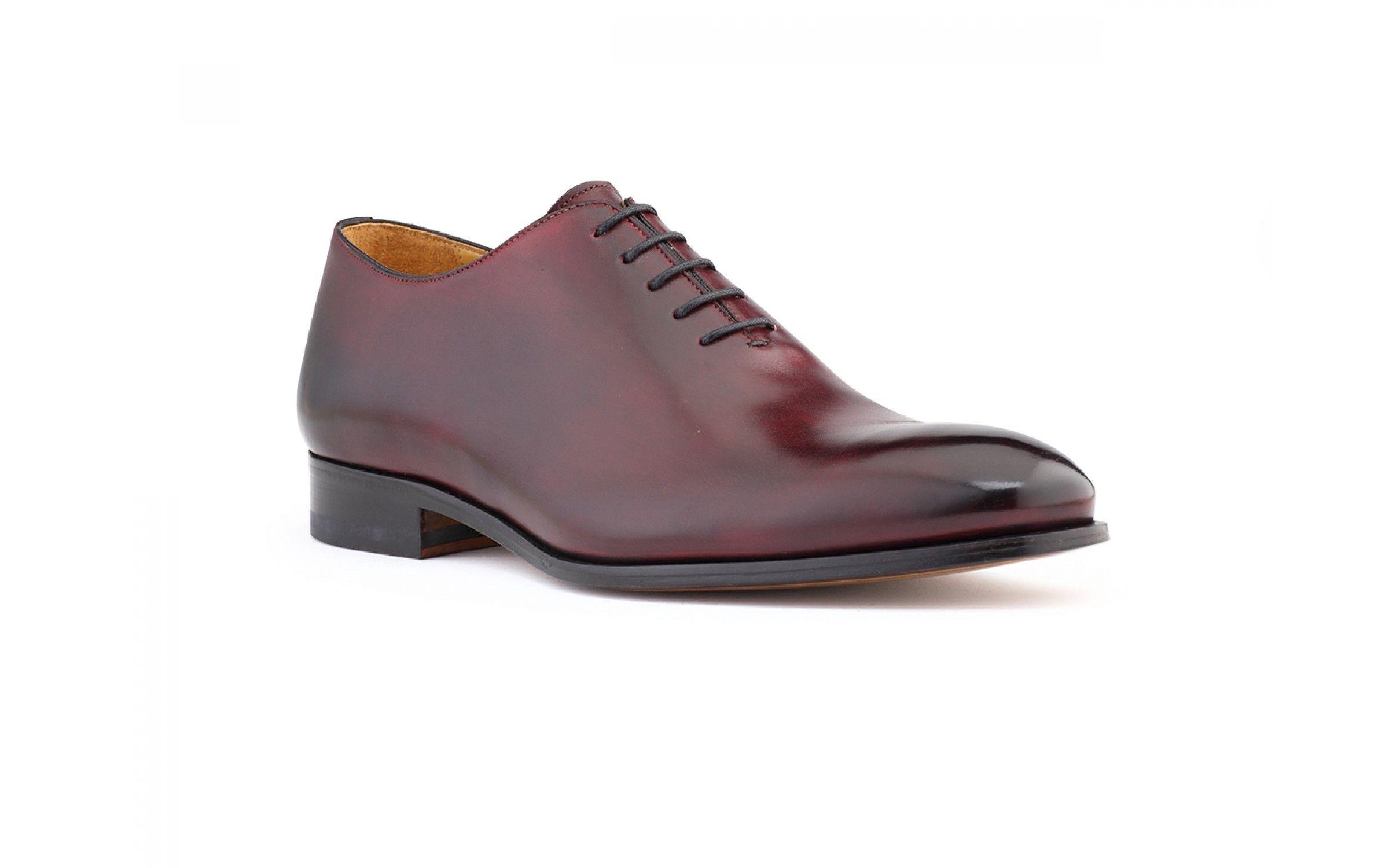 26d69d107f539 Wholecut Oxford Plain Toe Dress Shoes in Diable Antique Italian Leather