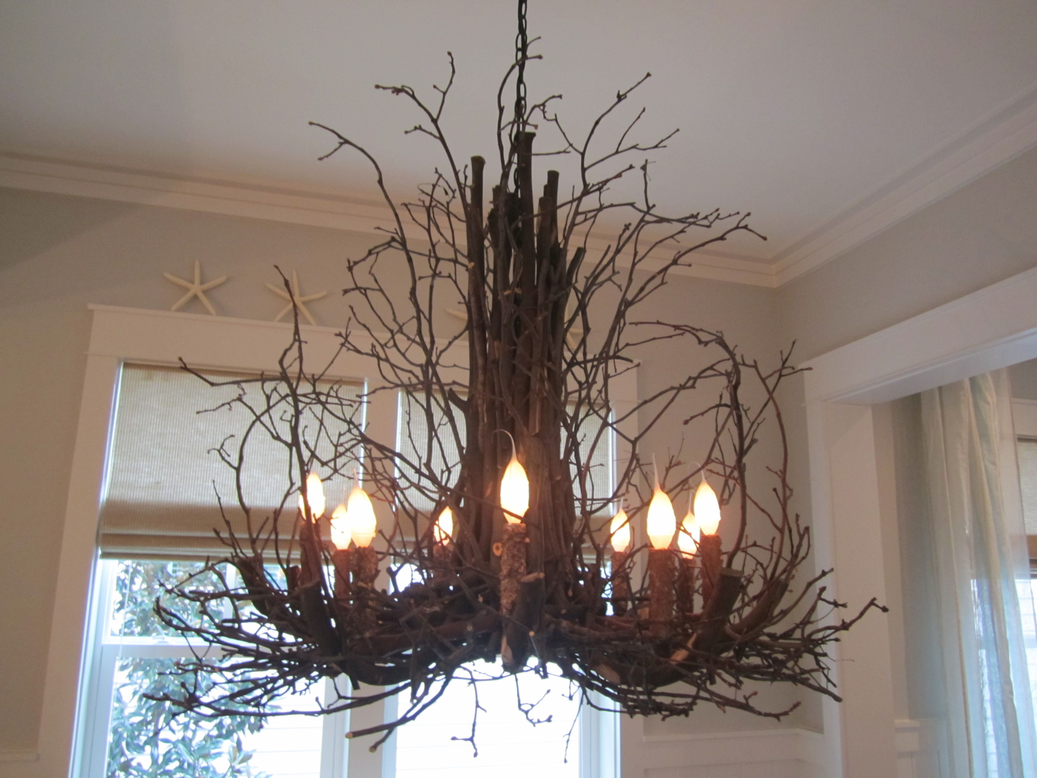Gorgeous Twig Chandelier Decorations For Home : Beautiful Twig Chandelier Decorations Ideas
