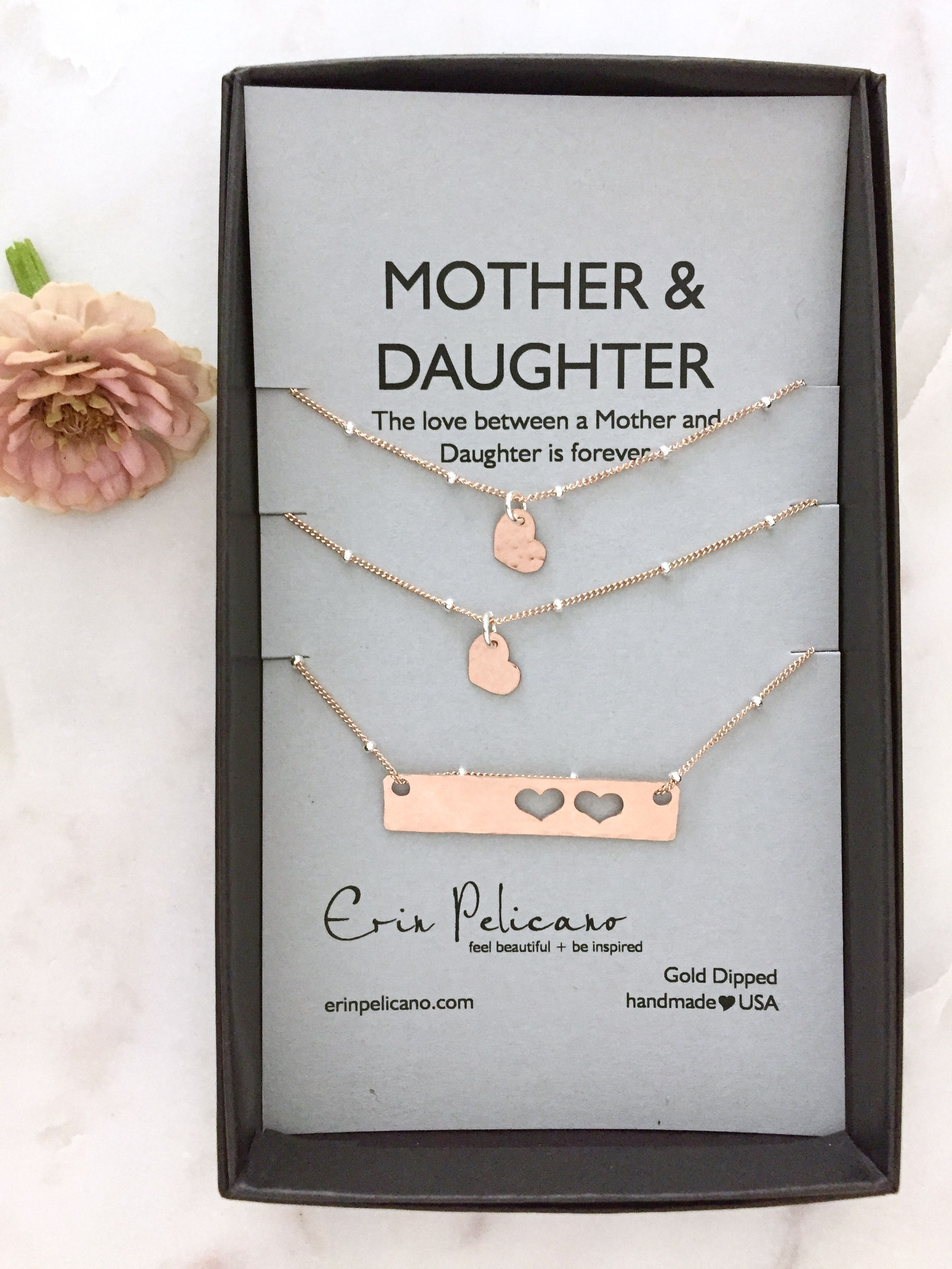 Mother Daughter Bar Necklace Set