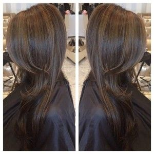 60 Looks With Caramel Highlights On Brown And Dark Brown Hair Balayage Straight Hair Brown Straight Hair Hair Color Shades