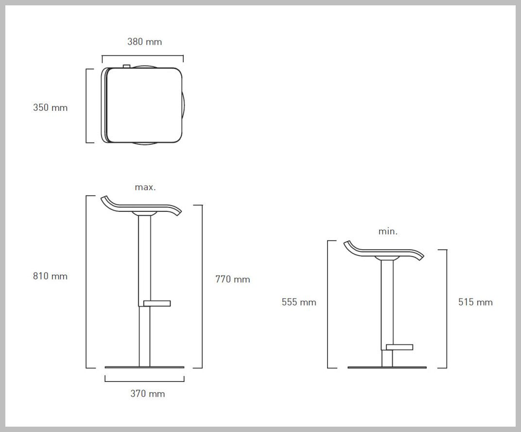 5 reference of bar chair height mm in 5  Bar chairs, Chair