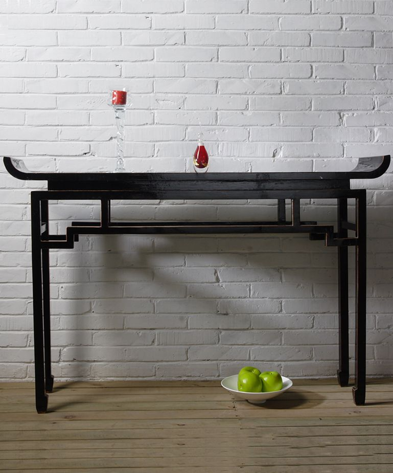 Contemporary Chinese Console Table Black