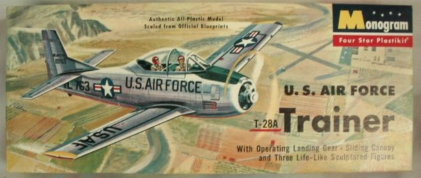 Monogram 1/48 T-28A Trainer - US Air Force Four Star Issue, PA28-98 plastic…