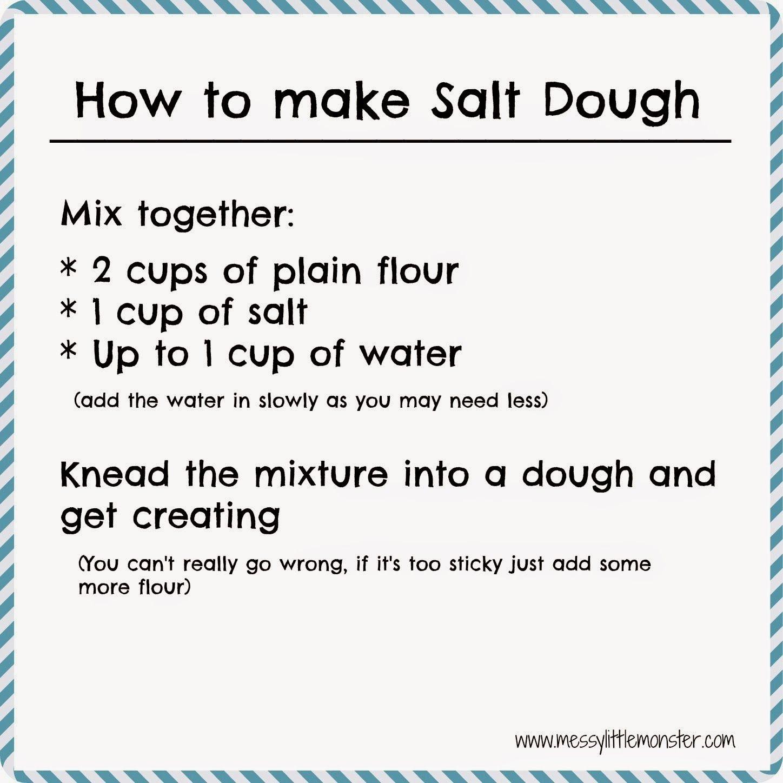 How to make salt dough - Easy salt dough recipe and craft ...