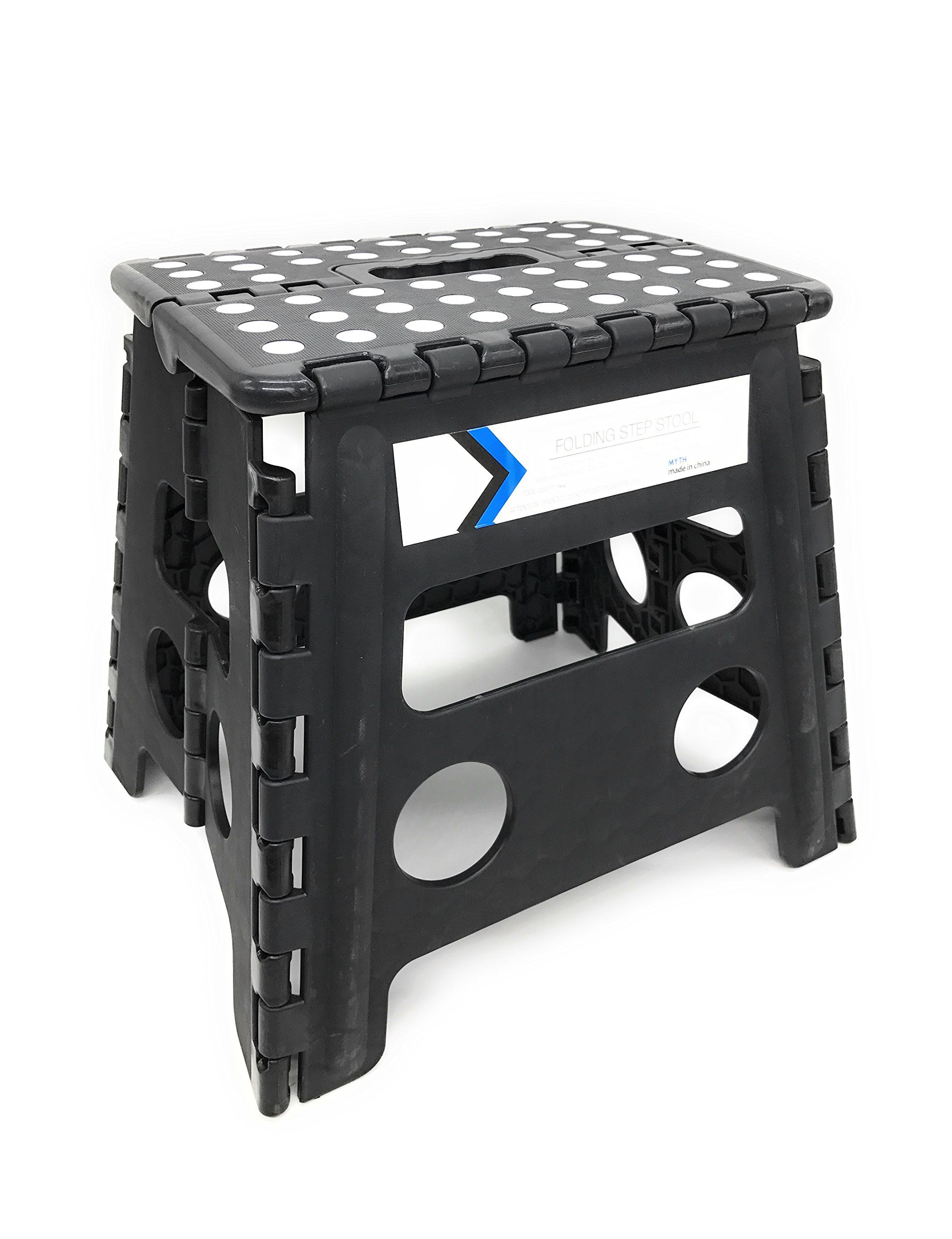 Folding Step Stool 13 Inches Height by Myth with Anti-Slip Surface ...