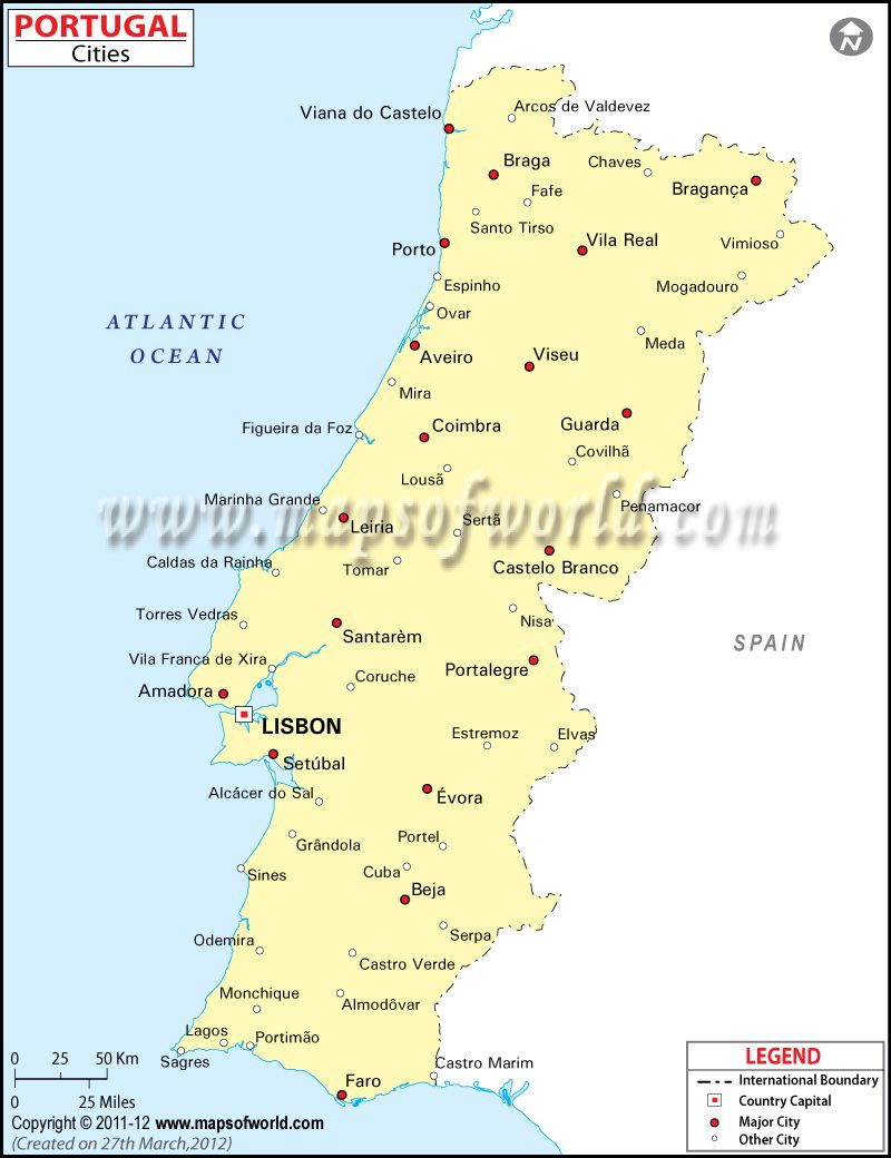 map of portugal with cities  Google Search  maps of the world