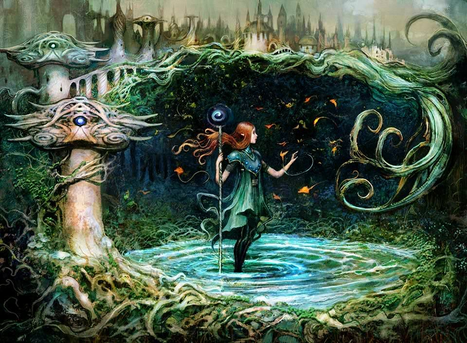 Rna Growth Spiral Full Art Seb Mckinnon Mtg Art Art New Art
