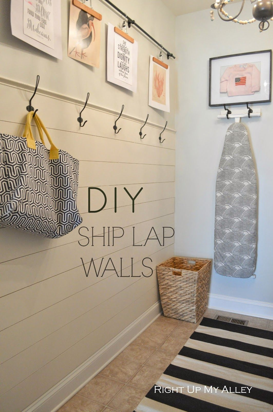As Part Of Our Laundry Room Makeover For The Orc Back In November We Put Up A Ship Lap Wall With Hooks On Top Originally I Wanted To