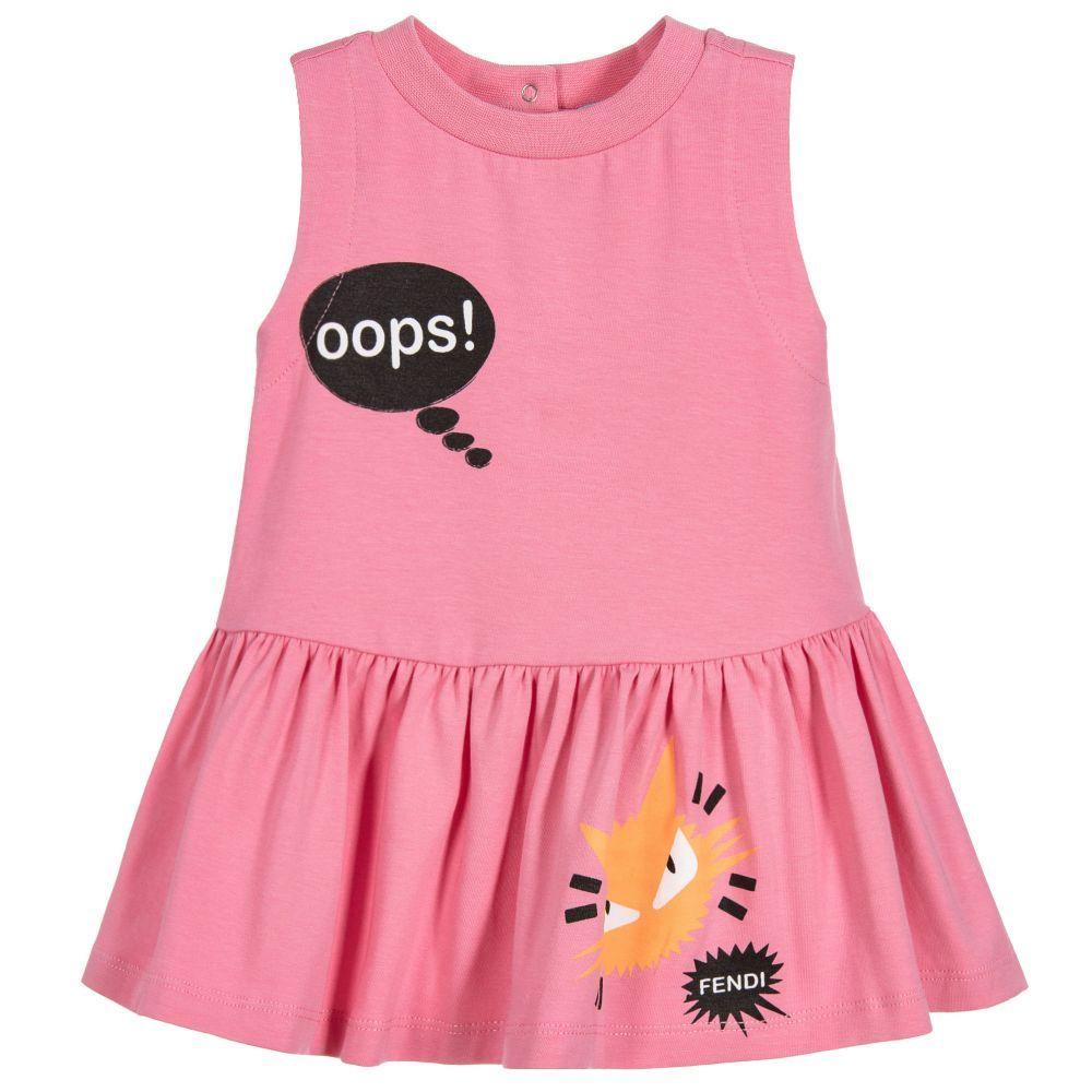 4653f02c1 Fendi - Baby Girls Pink Cotton Jersey Dress