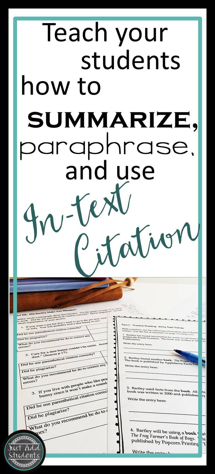 No More Plagiarism Teach Student To Accurately Summarize Paraphrase And Create In Text Citati Teaching Writing Middle School Informational Do You Need Quotation Mark When Paraphrasing Mla