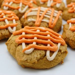 Pumpkin Cookies with Cream Cheese Frosting