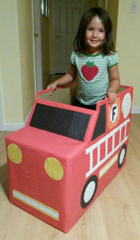 Fire truck box car
